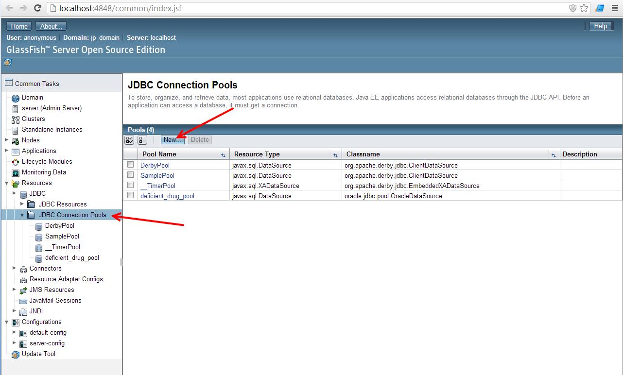 nascent: การ config JDBC Connection Pool (GlassFish Server)