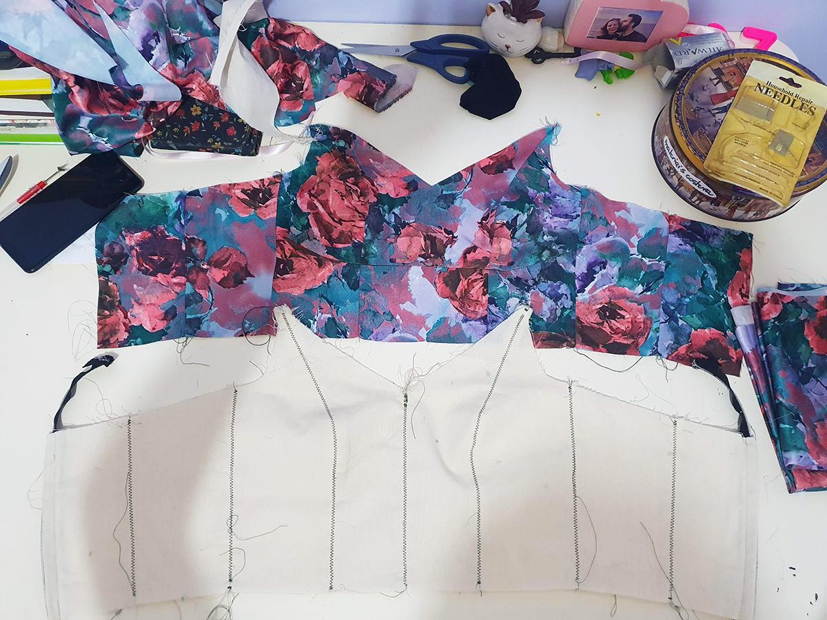 Marina Ribacki: processos de criação: vestido longo para ir a padaria