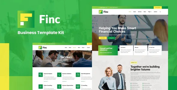 Best Business and Financial Elementor Template Kit