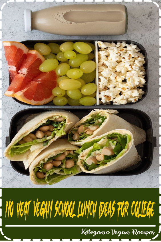 Tasty, No-Heat Vegan School Lunch Ideas For College that will up your meal prep game in no time! These meals are easy to make and healthy too!