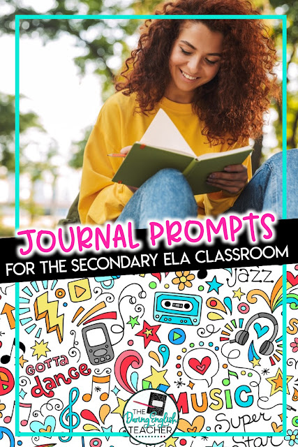 Journaling activities for middle school ELA and high school English