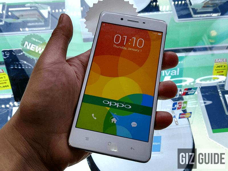 Oppo F1 2.5D screen