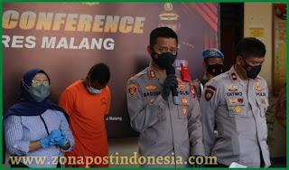 Polres Malang Ringkus 2 Pelaku Pencurian Besi Rel Kereta Api Wilayah Kepanjen Kabupaten Malang