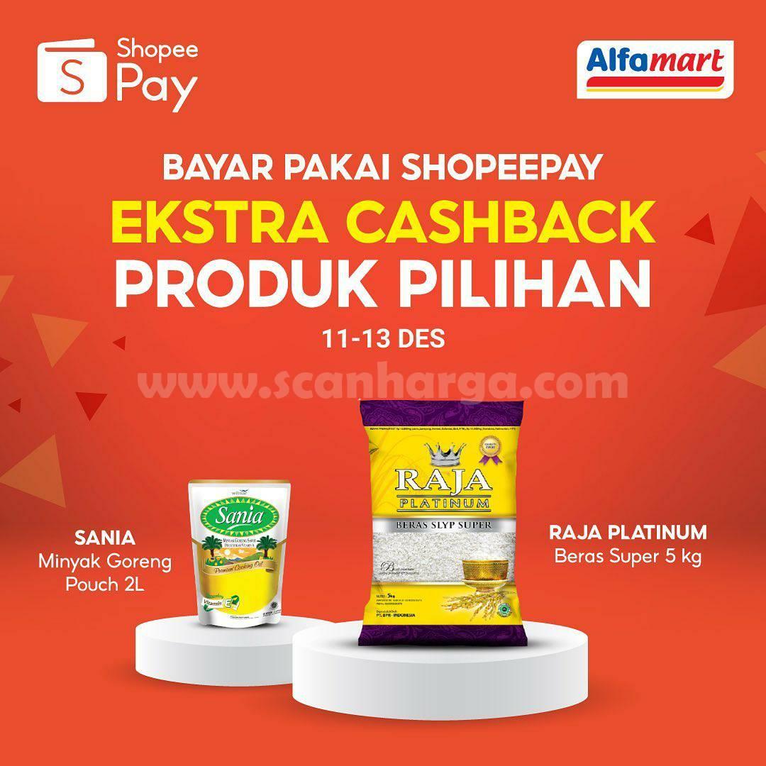 ALFAMART Promo Ekstra Cashback Produk Pilihan - Bayar Pakai ShopeePay