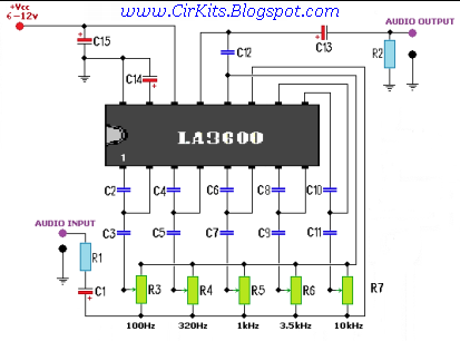 5 band graphic equaliser with pcb layout everyday electronics
