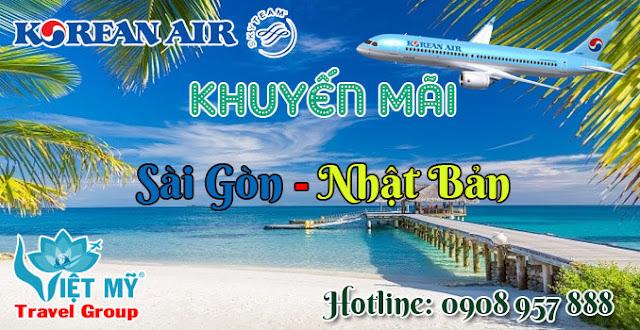 Korean Air khuyến mãi TP.HCM đi Nhật Bản