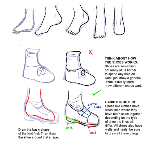 How to Draw Manga Feet Featured Image