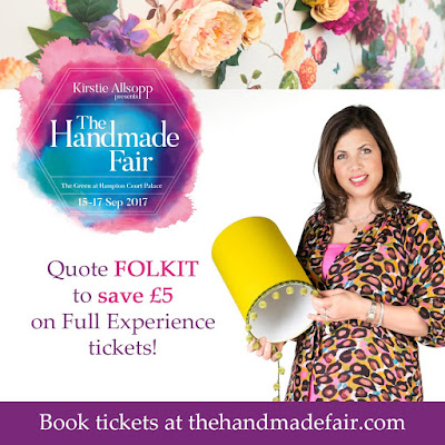 Get £5 off Full Experience tickets for the Handmade Fair with the code FOLKIT