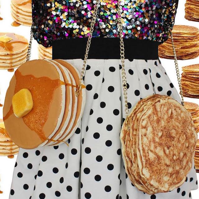 bolsas diferentes e criativas, em formato de doce, foto bolsa panqueca