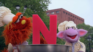 Ovejita Murray Alphabet Cookoff letter N, Sesame Street Episode 4308 Don't Wake the Baby