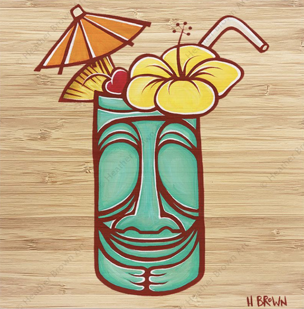 trader Vics tiki mug by heather brown