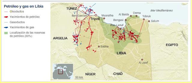 Resultado de imagen de mapa petroleo libia