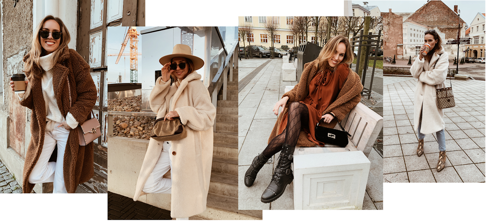 how to style teddy coat winter outfit inspiration