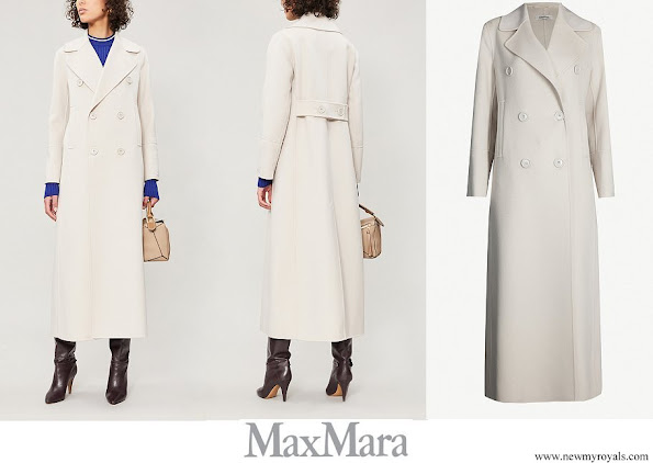 Countess of Wessex wore MAX MARA Custodi double breasted brushed wool coat