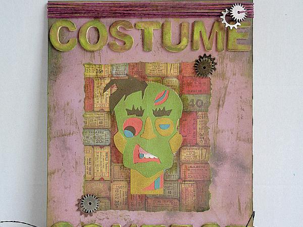 DIY: Tim Holtz Inspired Zombie Halloween Sign