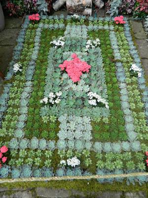 Closeup of floral Victorian rug at allan gardens christmas flower show 2012 by garden muses: a toronto gardening blog
