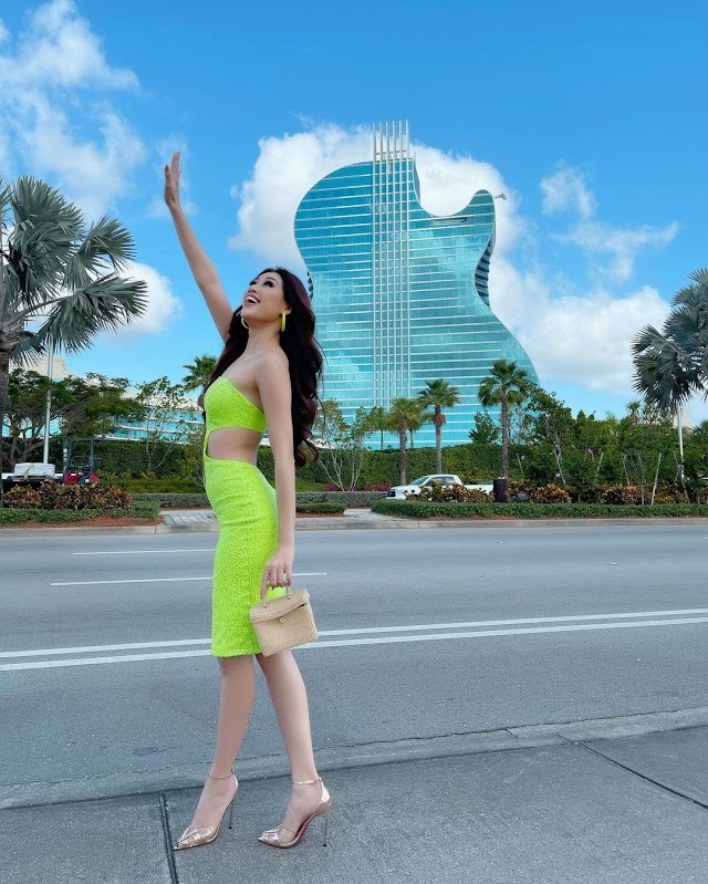 Guitar-shaped hotel where Miss Universe is held