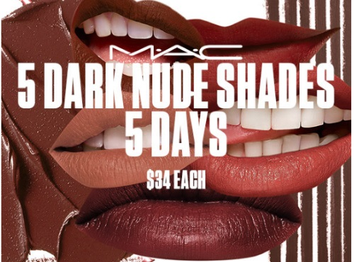 MAC Cosmetics 5 Dark Nudes Lipstick & Lipliner Deals