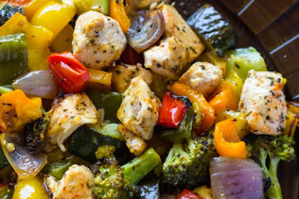 Recipe: 15 Minute Healthy Roasted Chicken and Veggies