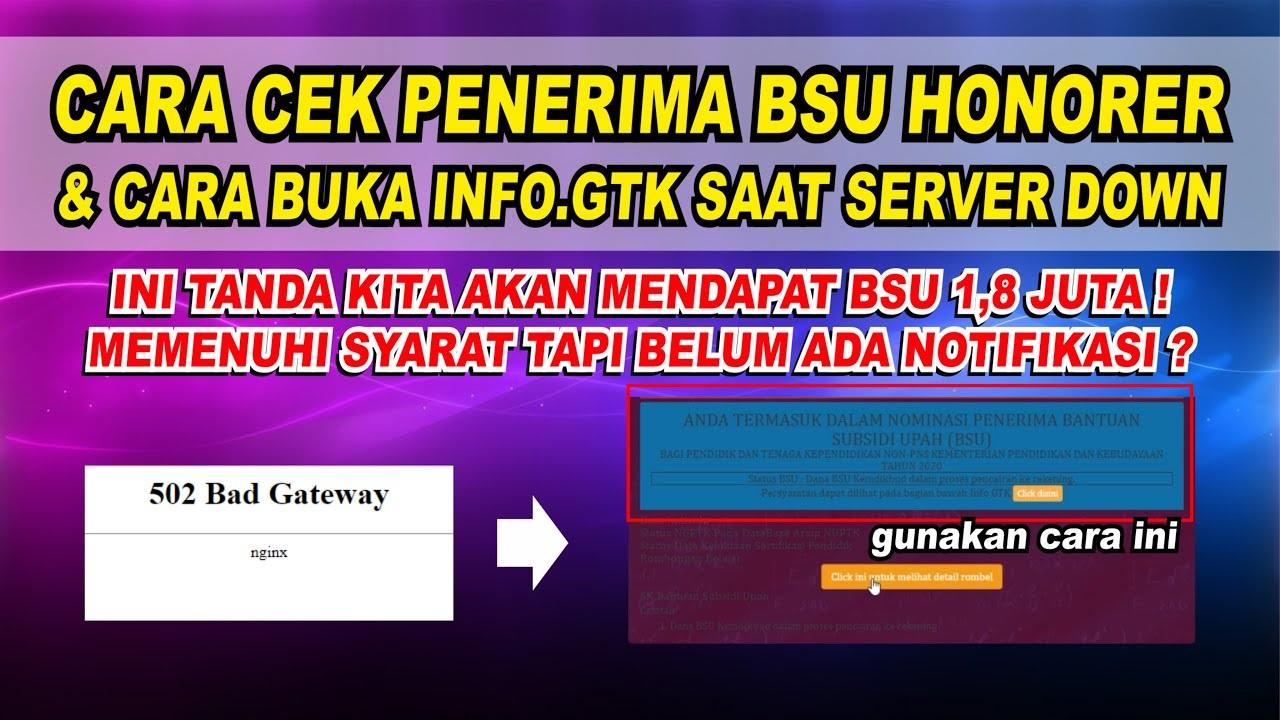Cara Akses info.gtk.kemdikbud.go.id Tanpa NUPTK dan NPSN, Segera Cairkan BSU Guru Honorer Rp1,8 Juta