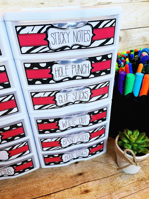 Mini Sterilite Drawers for Teachers