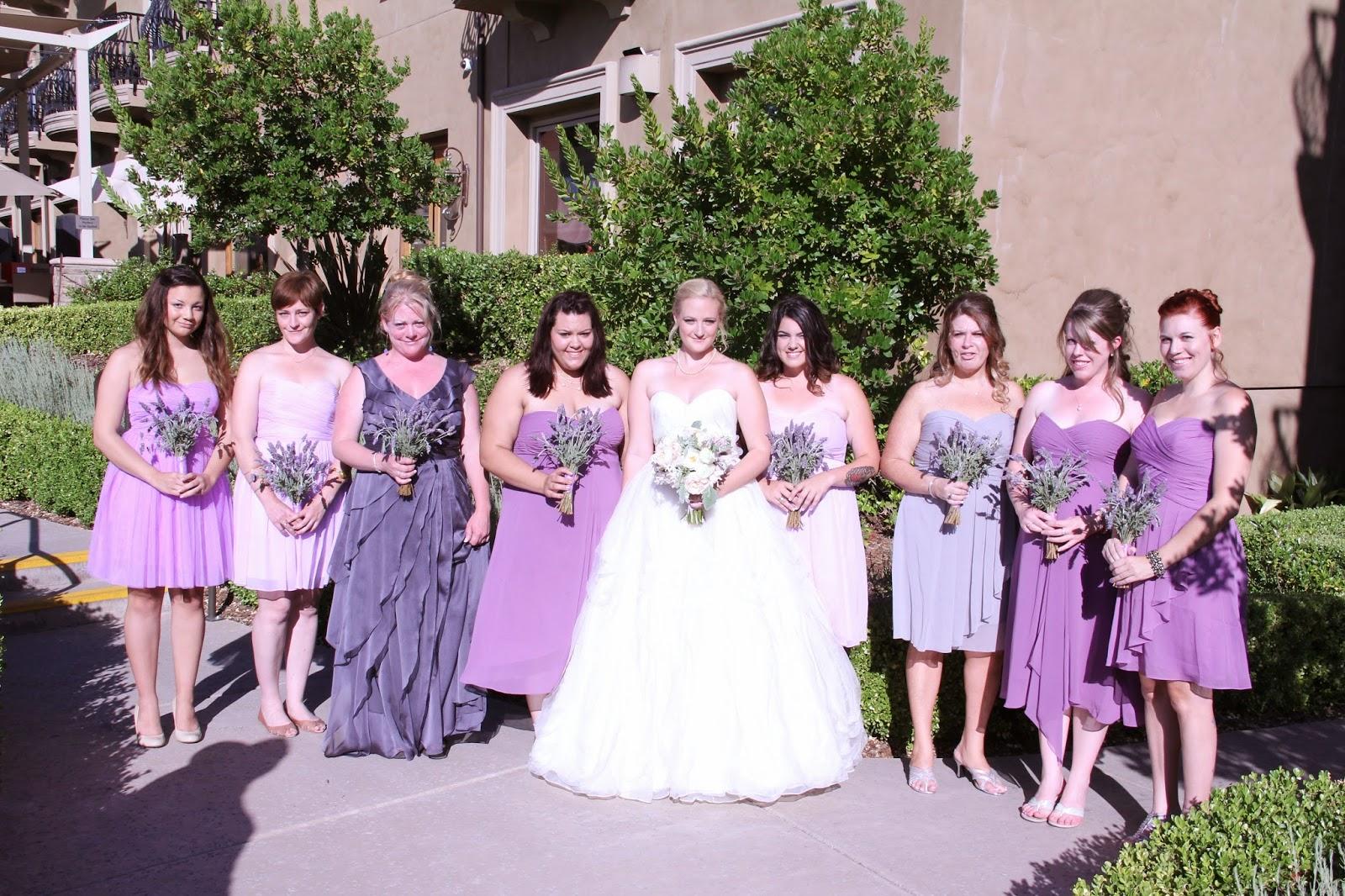 vintage eclectic wedding in soft pink lavender wedding dress Lavender Wedding Sacramento Florist
