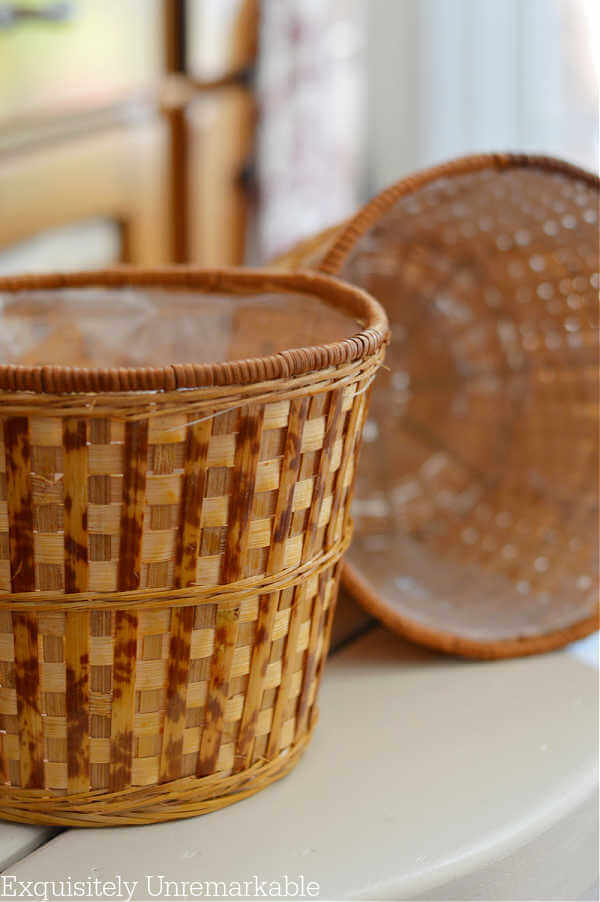 Plastic Lined Wicker Planter Baskets