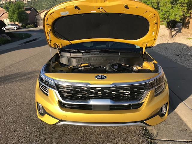Hood up on 2021 Kia Seltos SX Turbo AWD