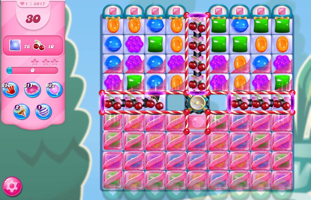 Candy Crush Saga level 8017
