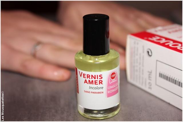 Vernis amer Isopouce Laboratoire Tradiphar - Comment arrêter de se ronger les ongles - Blog beauté Les Mousquetettes