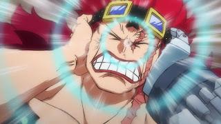 ワンピースアニメ 987話 ワノ国編   ユースタスキッド ギザ男    ONE PIECE EUSTASS KID