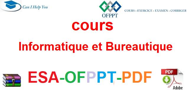 Informatique et Bureautique Électromécanique des Systèmes Automatisées-ESA-OFPPT-PDF