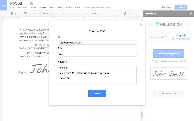 e-Signature: HelloSign
