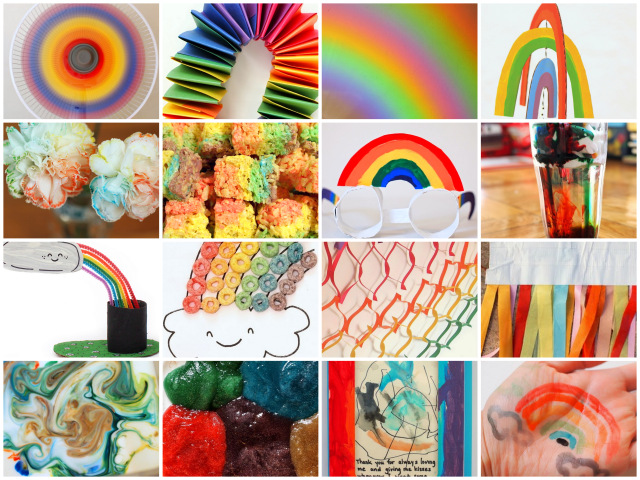 20+ rainbow crafts, activities and book list for kids!