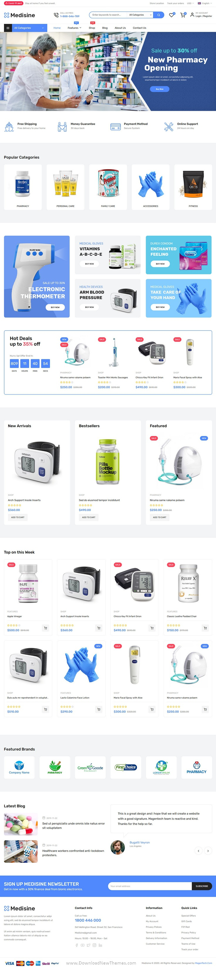 Medisine Drug and Medical Store Magento Theme