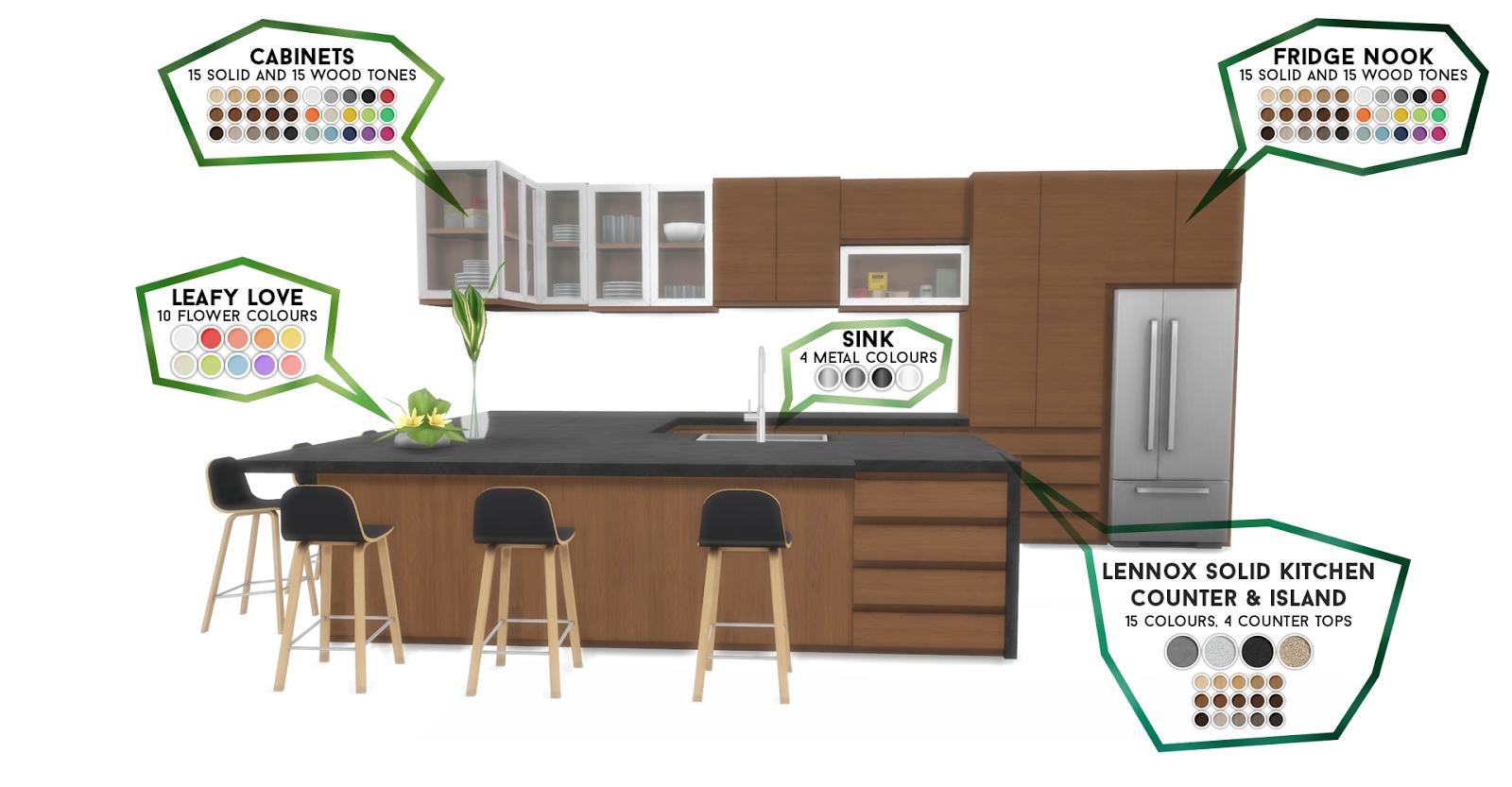 Simsational Designs: Lennox Kitchen And Dining Set