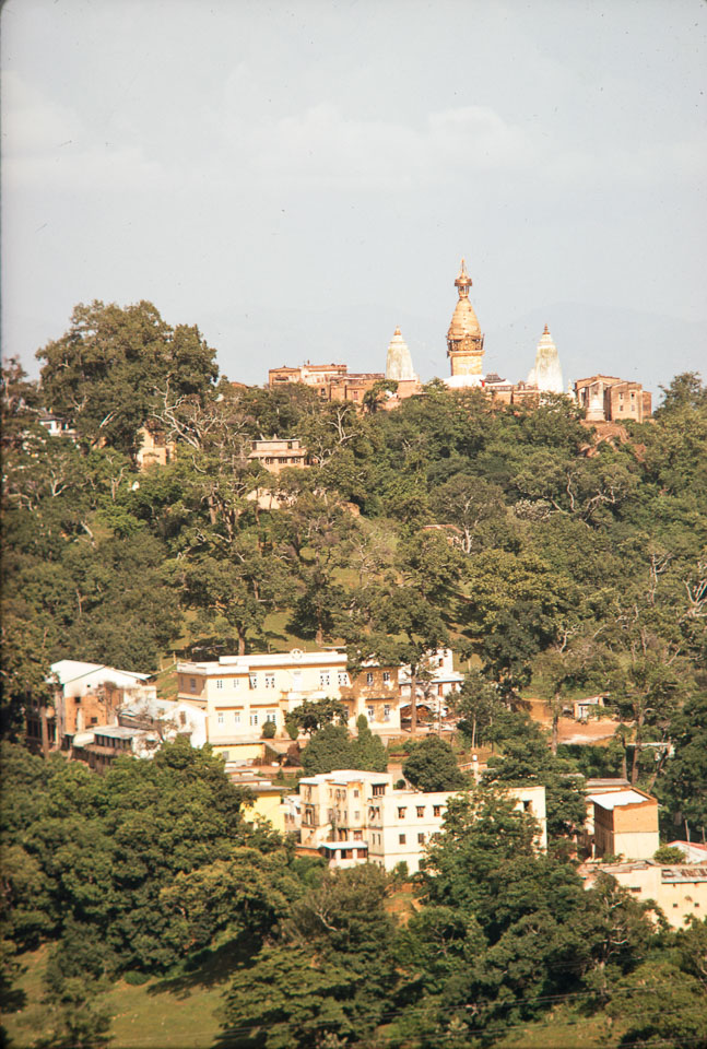 Old photo of Swayambhunath