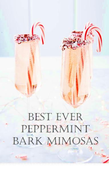 Best Ever Peppermint Bark Mimosas