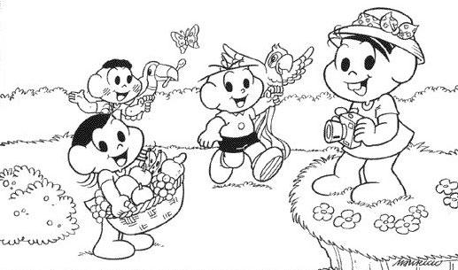 Desenhos Para Atividades Turma Da Mônica Para Colorir