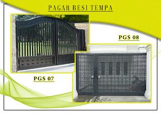 Katalog pintu gerbang besi tempa, pintu gerbang tempa sederhana 07