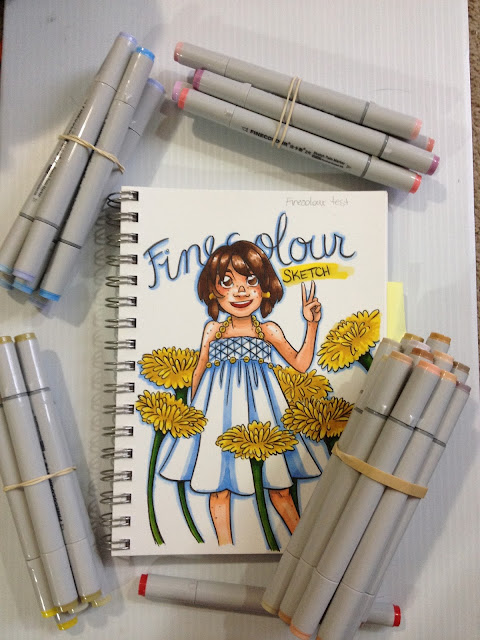 Finecolour Sketch, Finecolour markers, alcohol markers