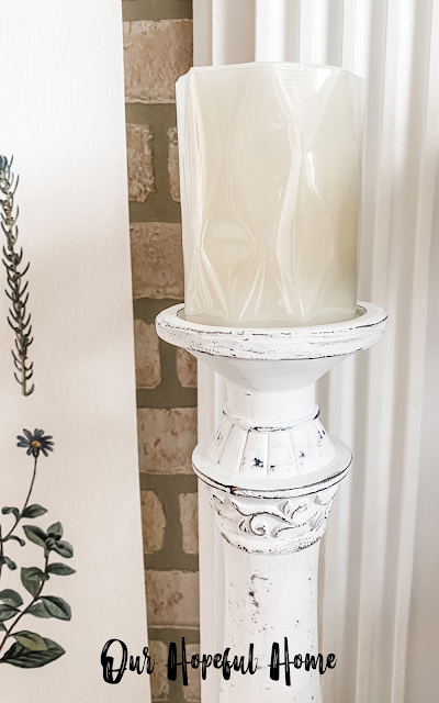 distressed raised details candle holder