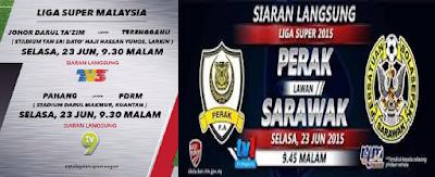 result Liga Super Malaysia 23 Jun 2015