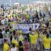 """""""Eu vim de graça"""", gritam militantes de Bolsonaro em Salvador"""