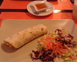 Fotode un burrito, comida mexicana