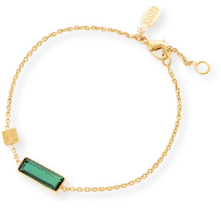 Modern Green Jewellery -  Oliver Bonas Emerald Glass Bracelet