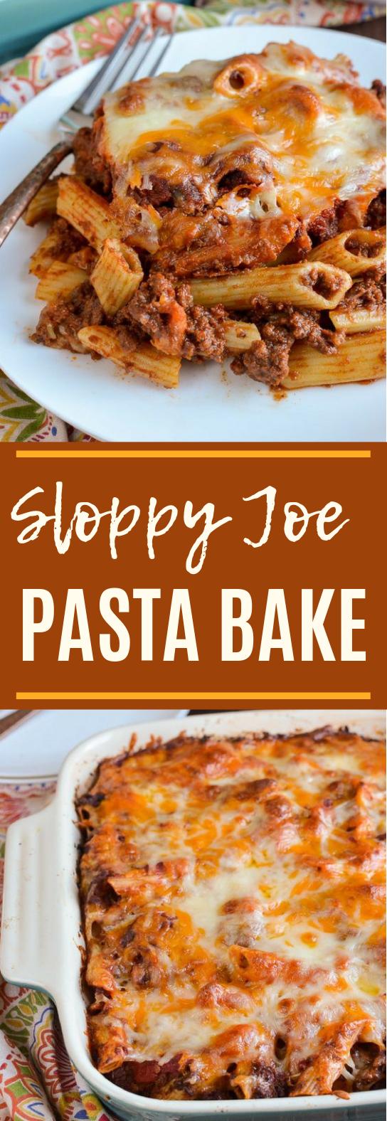 Sloppy Joe Pasta Bake #dinner #pasta