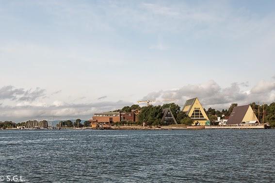 Vista de la península de Bygdøy desde el Ferry
