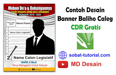 Download Contoh Desain Banner Baliho Caleg CDR Gratis
