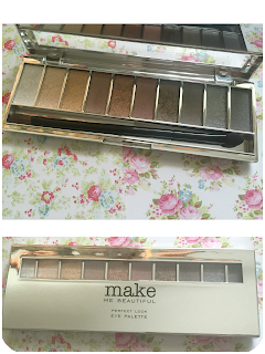 Next make me beautiful perfect look eyeshadow palette shades